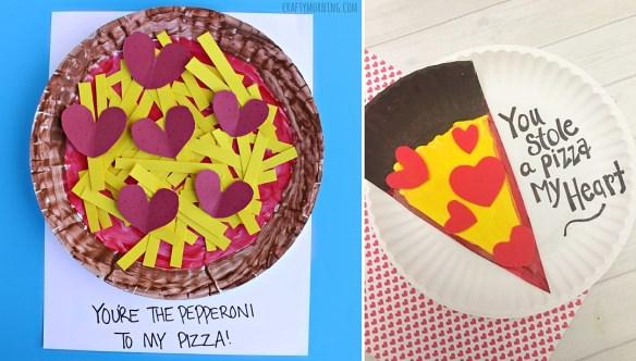 projetos manuais artes faceis para criancas prato de papel pizza ideias frases