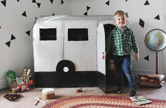 trailer papelao faca voce mesmo diy brinquedos papelao construcoes criativas