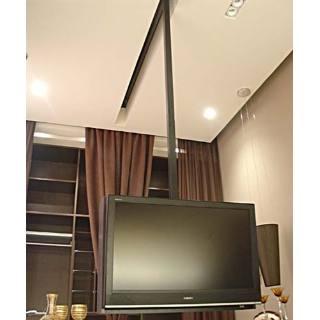suporte tv teto com trilho