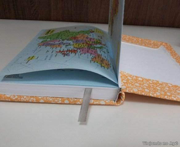 encapando livro com tecido e papel decorado impresso 7