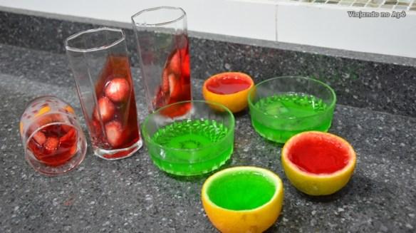 gelatina diferente divertida inclinada
