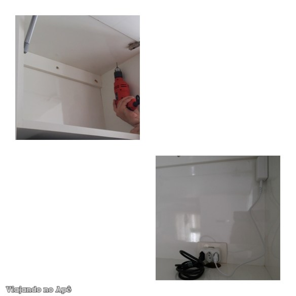 instalaçao spots led armario cozinha