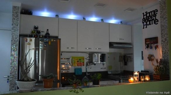 spots led armario cozinha decoraçao