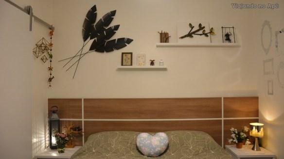 decoraçao parede da cabeceira prateleiras