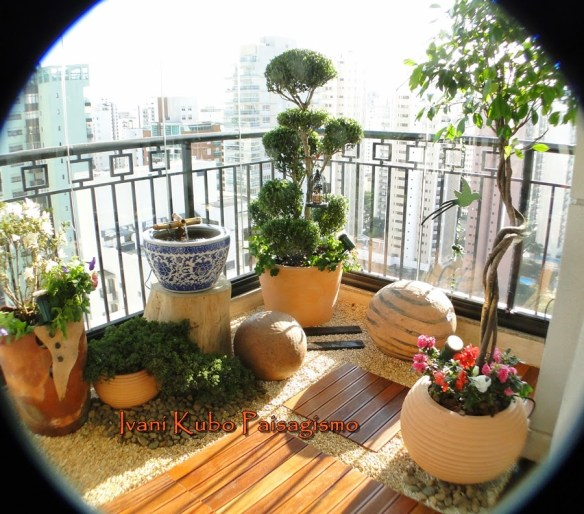 decoraçao varanda sacada plantas fonte apartamento ivani kubo