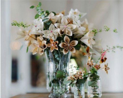 flores-origami arranjos decoraçao