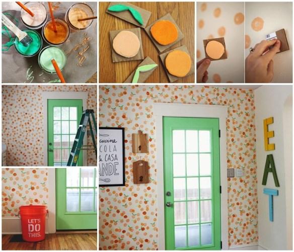 carimbo espuma decoraçao parede 3