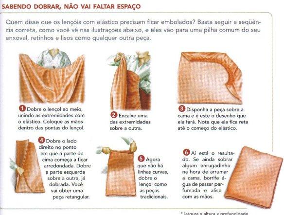 como dobrar lençol com elastico