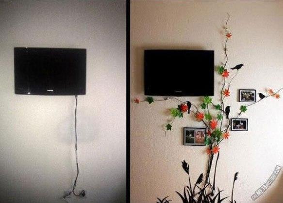 transformando fios aparentes em decoração