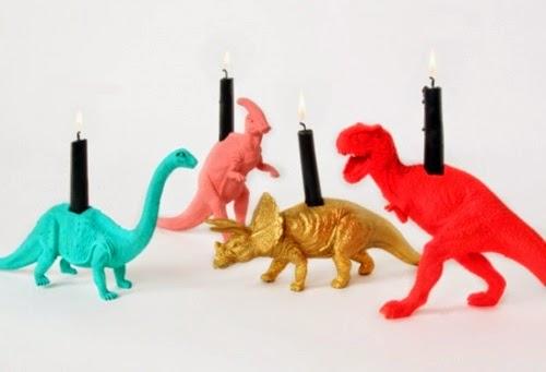 dinossauro porta velas