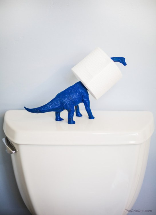 porta papel higienico dinossauro