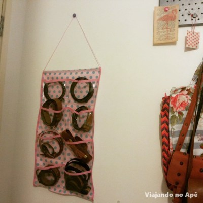 organizador cintos parede