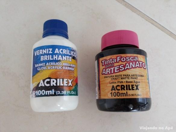 tinta pva acrilex verniz acrilico brilhante pintura mdf