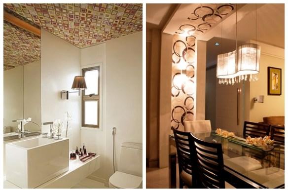 teto decorado decoracao teto lavabo sala