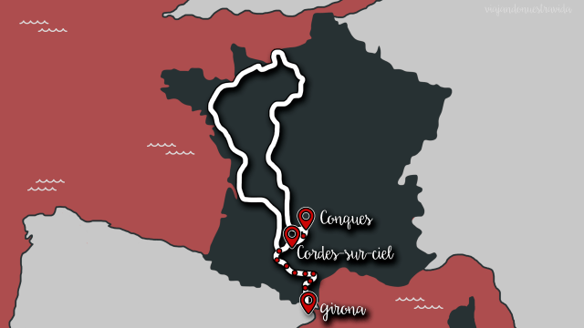Cordes-sur-Ciel y Conques