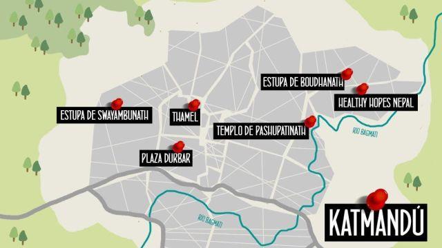 Mapa Katmandu