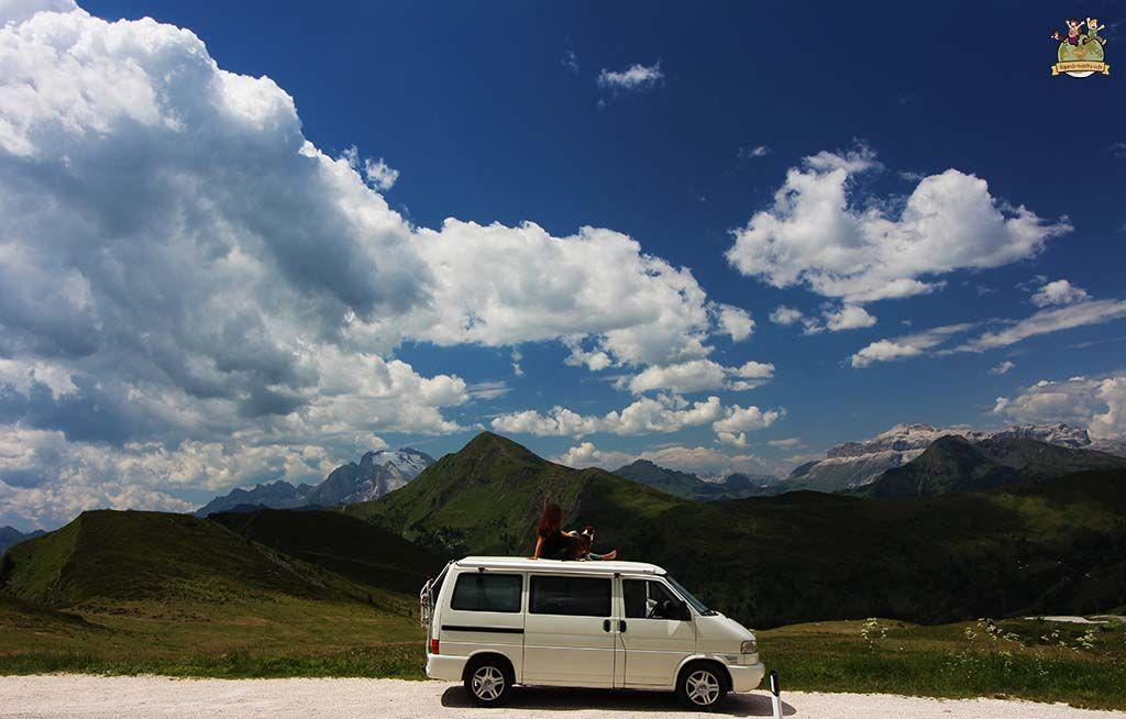 Ruta por Dolomitas en furgo y con perro