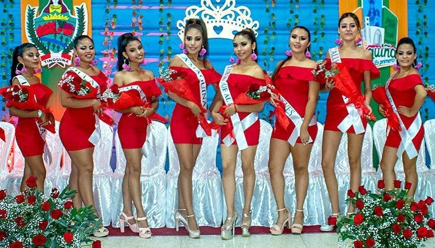 Fotos de las candidatas a Miss Tinguiña 2020