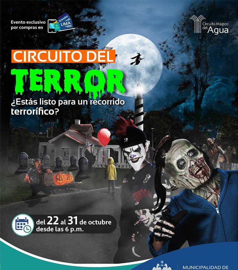 Circuito Mágico del Agua presenta tour terrorífico por Halloween 2021