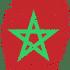 Marruecos bandera huella