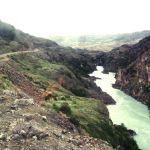 Carretera austral, confluencia del río Baker, Chile.