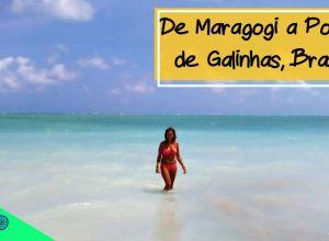 Carol en playa de Maragogi