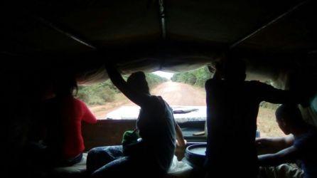 Camión a dedo por las Guayanas
