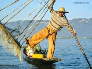 Postal Myanmar Lago Inle