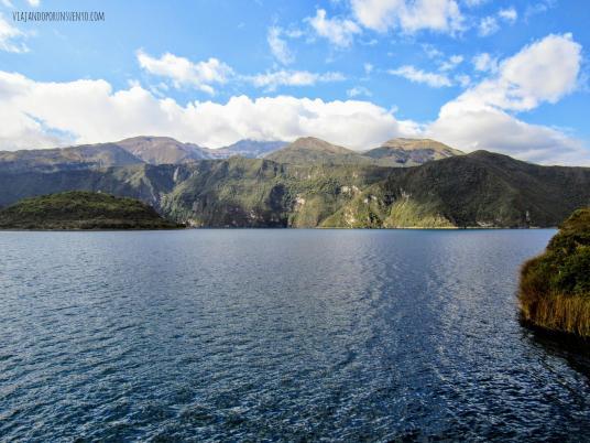 Lago cuicocha alrededores quito ecuador vx1s