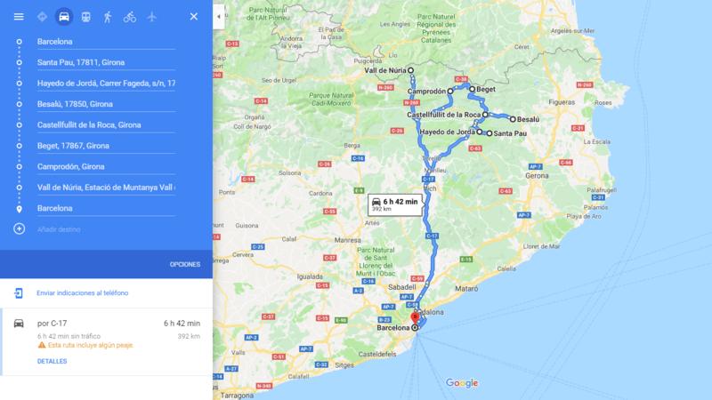 ruta 02 Barcelona coche viajando por un sueño