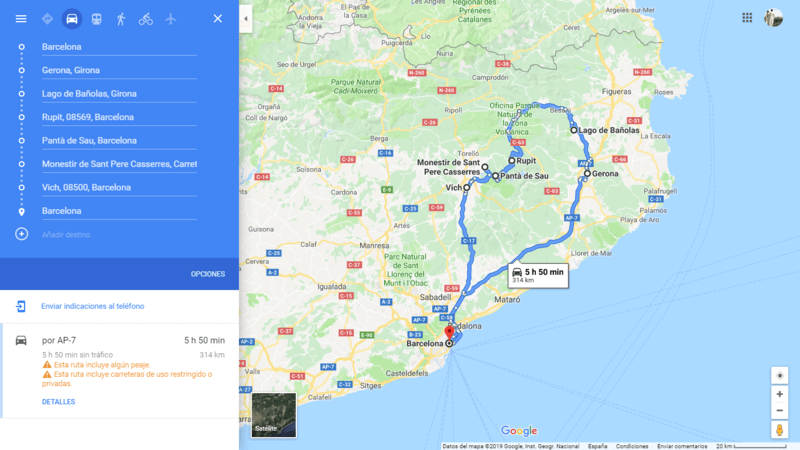 ruta 04 Barcelona coche viajando por un sueño
