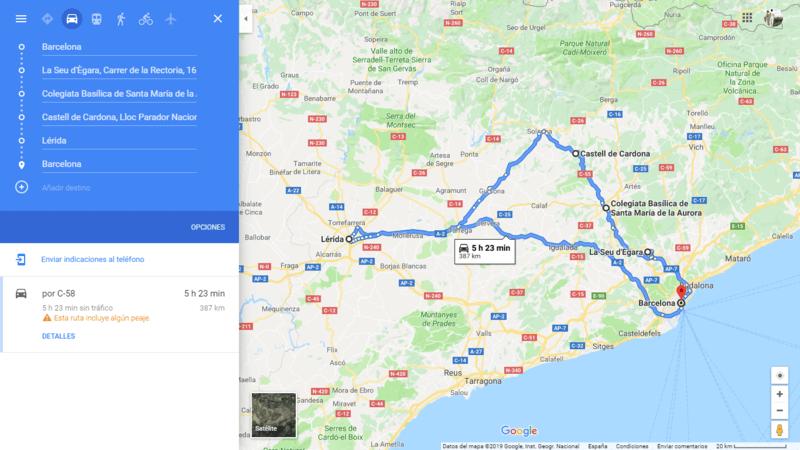 ruta 05 Barcelona coche viajando por un sueño
