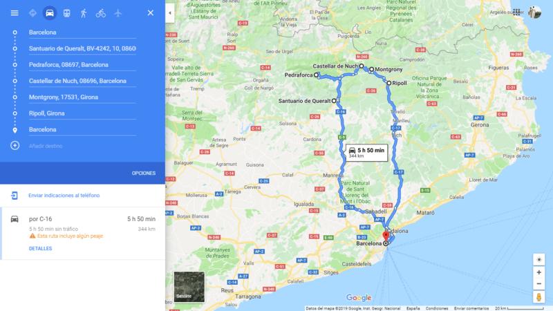 ruta 06 Barcelona coche viajando por un sueño