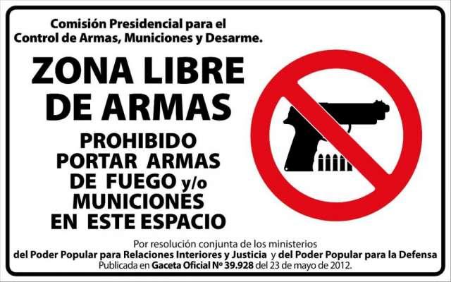Warum nicht überall? Zona Libre de Armas