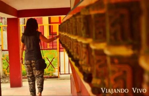 Ruedas de oracion en Manali, en el norte de India