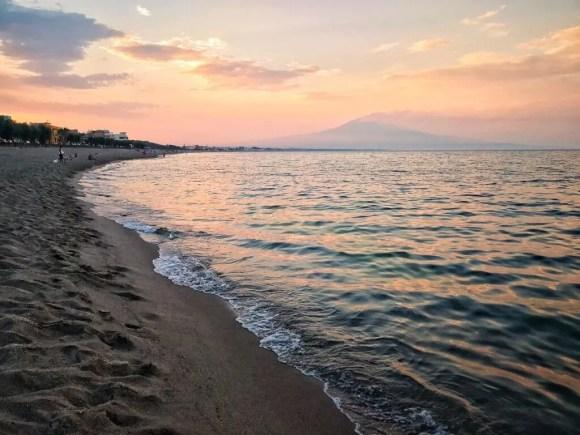 El volcán Etna en erupción