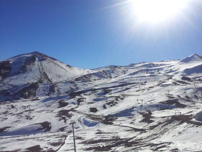 Valle Nevado, estação de esqui, Cordilheira dos Andes