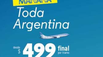 aerolineas argentinas 499 pasaje por tramo