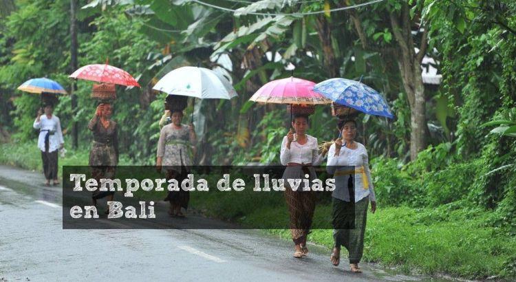 Temporada de lluvias en Bali