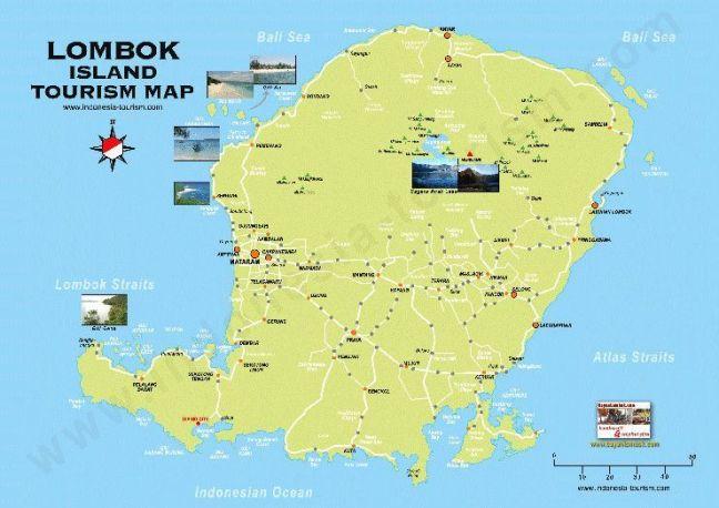 Lombok Mapa