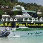 Barco rapido entre las islas Gili y Nusa Lembongan