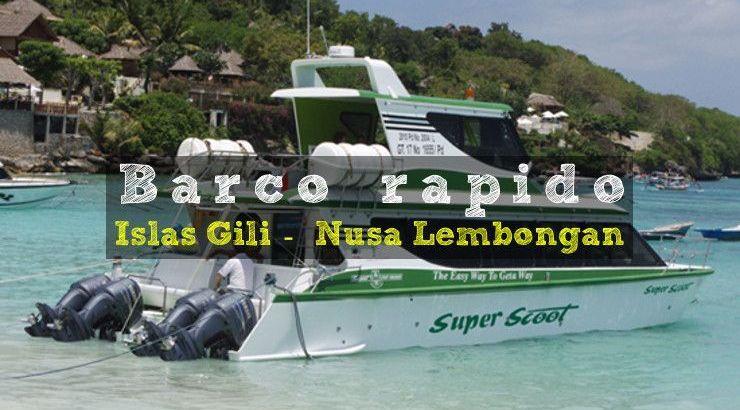 como ir a islas Nusa desde Islas Gili