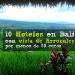 10 Hoteles en Bali con vista de Arrozales por menos de 50 euros