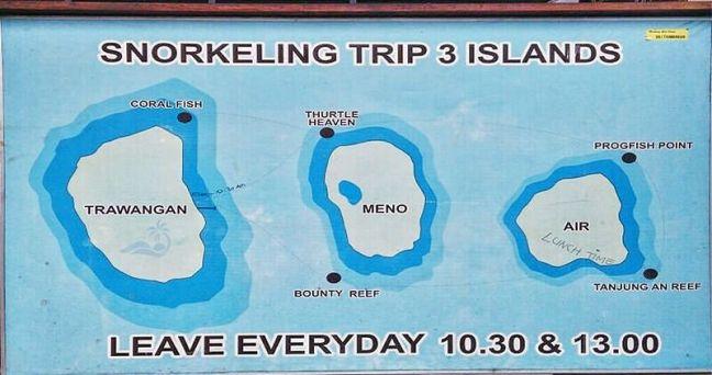 Tour snorkeling islas gili