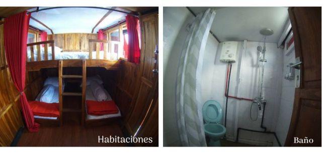 interior barco tour komodo