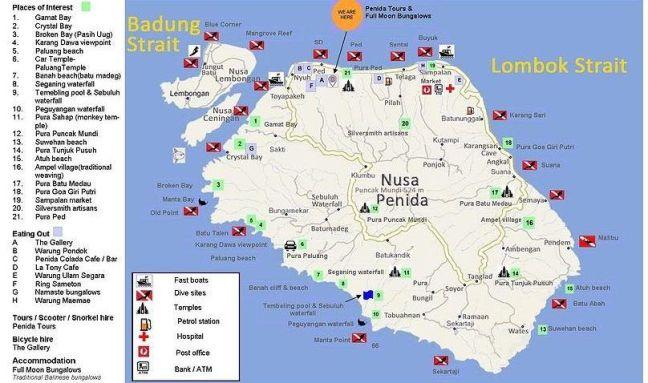 Mapa Islas Nusas