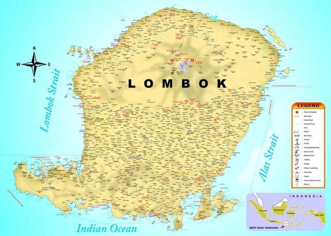 Mapa de Lombok