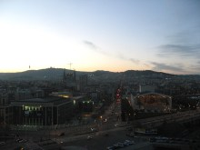 Vistas desde lo alto de Melon District Barcelona