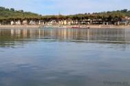 La localidad de Moissac desde la otra orilla del río Tarn