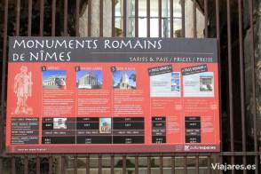 Atractivos romanos de Nîmes